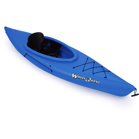 Kl industries 10 39 water quest sit in kayak in blue for Fishing kayak walmart