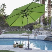 Coral Coast 9 ft. Steel Market Patio Umbrella