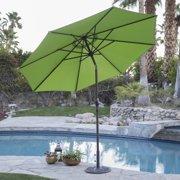 Coral Coast 9 ft. Steel Market Patio Umbrella