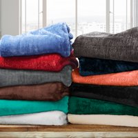 Impressions Monticello Solid Microfiber Fleece Blankets and Throws