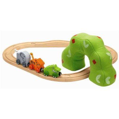 Nuchi Wooden Railway / 15-piece Baby's First Jungle Train -