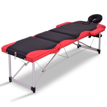 Halloween Spa Packages (Costway Wooden Massage Table Portable Foldable Package 3 Section Couch)