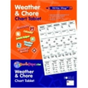 Write Way 24 x 32 in. Roselle Weather & Chore Chart Tablet, 30 Sheets