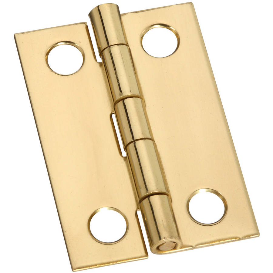 "Stanley Hardware 803140 1-1/2"" Bright Brass Middle Hinges, 2 Count"