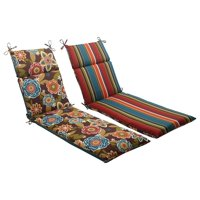 """72.5"""" Tahitian Chocolate Outdoor Reversible Chaise Lounge Cushion with Ties"""