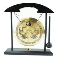 Almanac Animals Zen Gong Yin Yang Bell Display Desk Tabletop Decor Gift Feng Shui Resonator Dragon