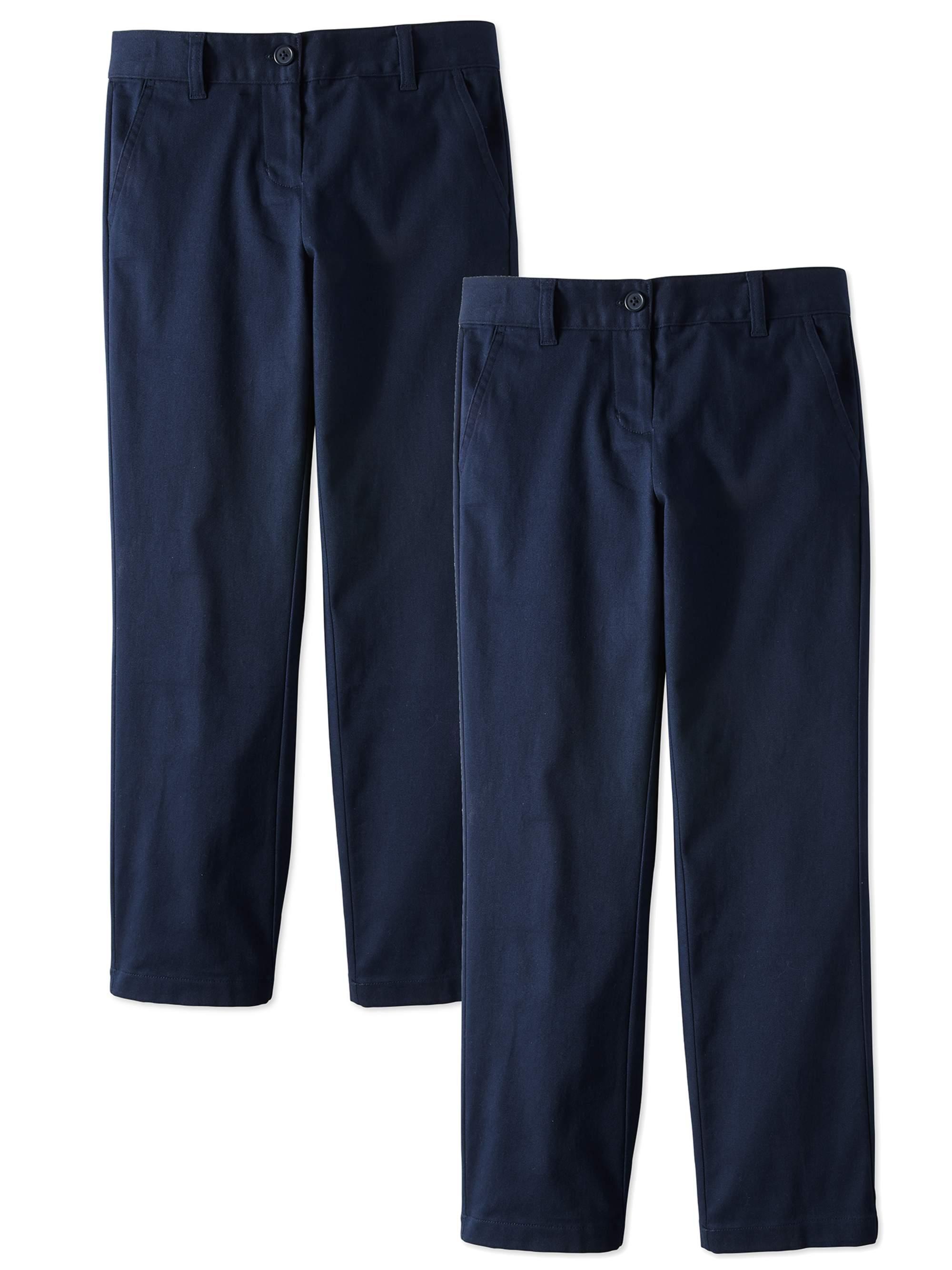 Boys Youth School slim fit uniform trousers half elastic waist age 4-13