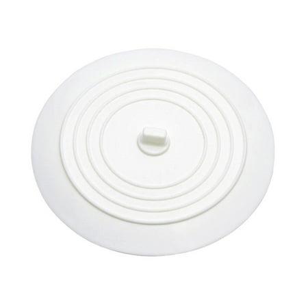 Bathroom Tub Drains - Silicone Sink Stopper Tub Drain Plug for Kitchens Bathrooms Laundries (White)