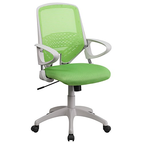 A Line Furniture Zab Green Mesh Adjustable Swivel Office Chair