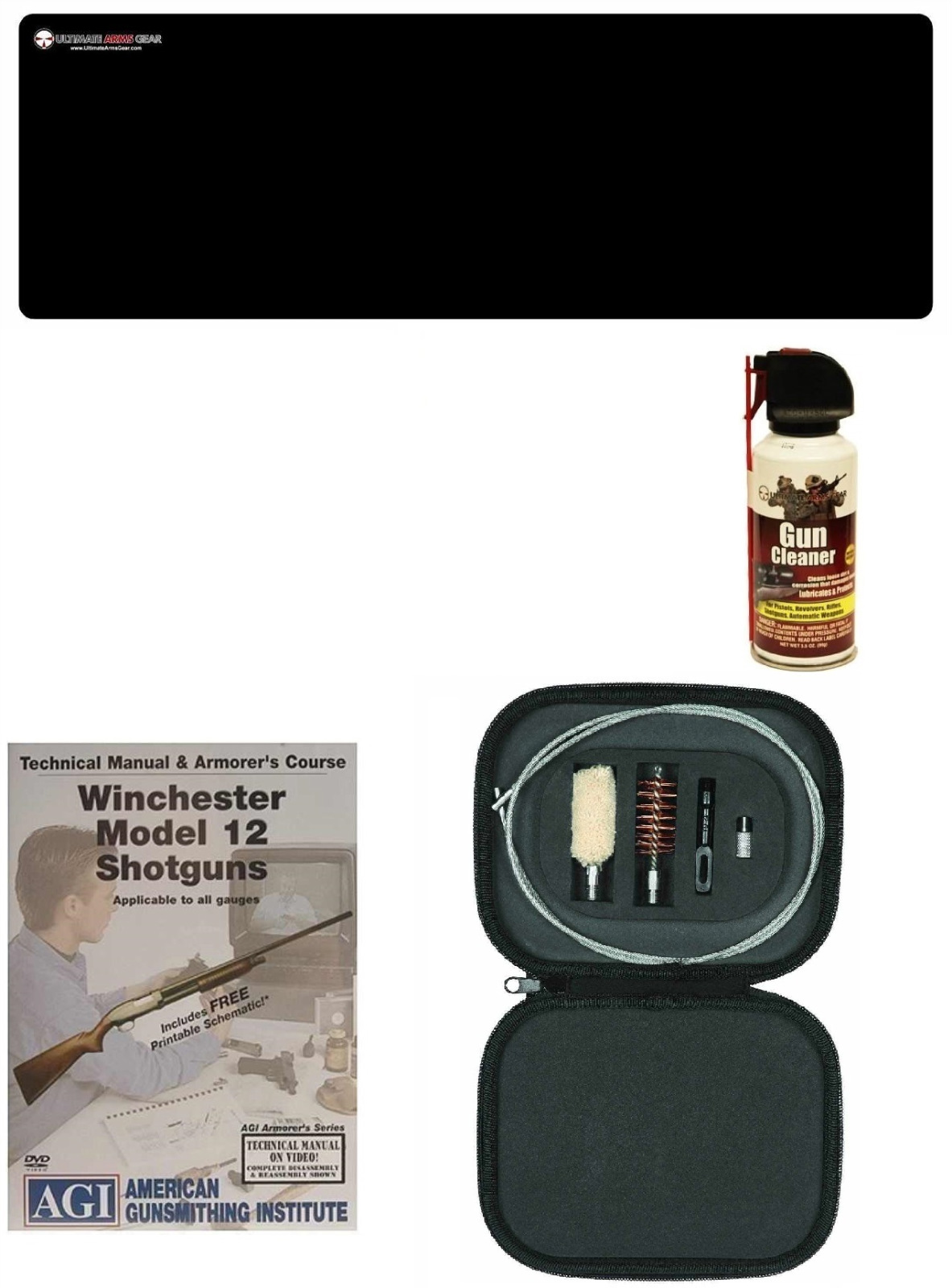 AGI DVD Manual & Armorer Course Winchester Model 12 Shotgun + Ultimate Arms Gear Gunsmith Cleaning Bench Gun Mat + 12 GA... by