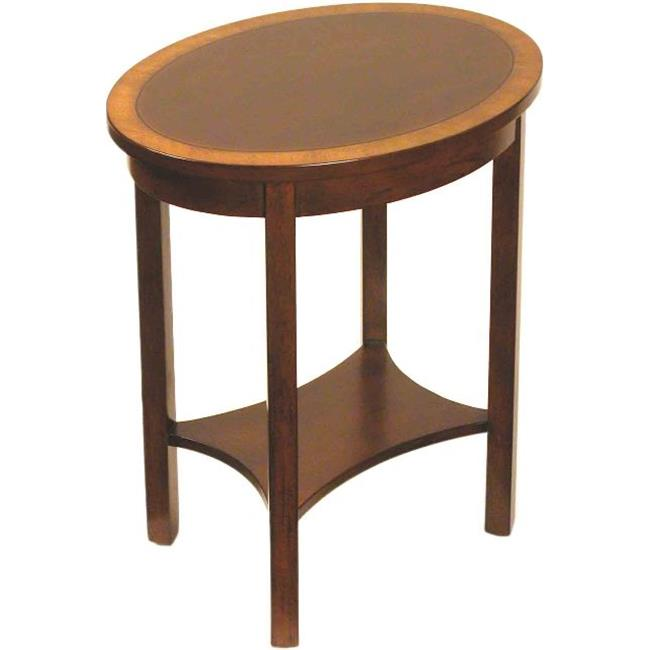 Accents Beyond 1250-B Small Oval Table, Antique Black