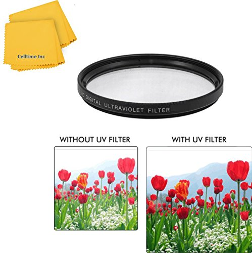 58mm UV Protective Multi-Coated All-Purpose Filter for Canon Telephoto EF 70-300mm f/4-5.6 IS USM and Canon Telephoto EF 75-300mm f/4.0-5.6 III Zoom Lenses + CT Microfiber Cleaning Cloth