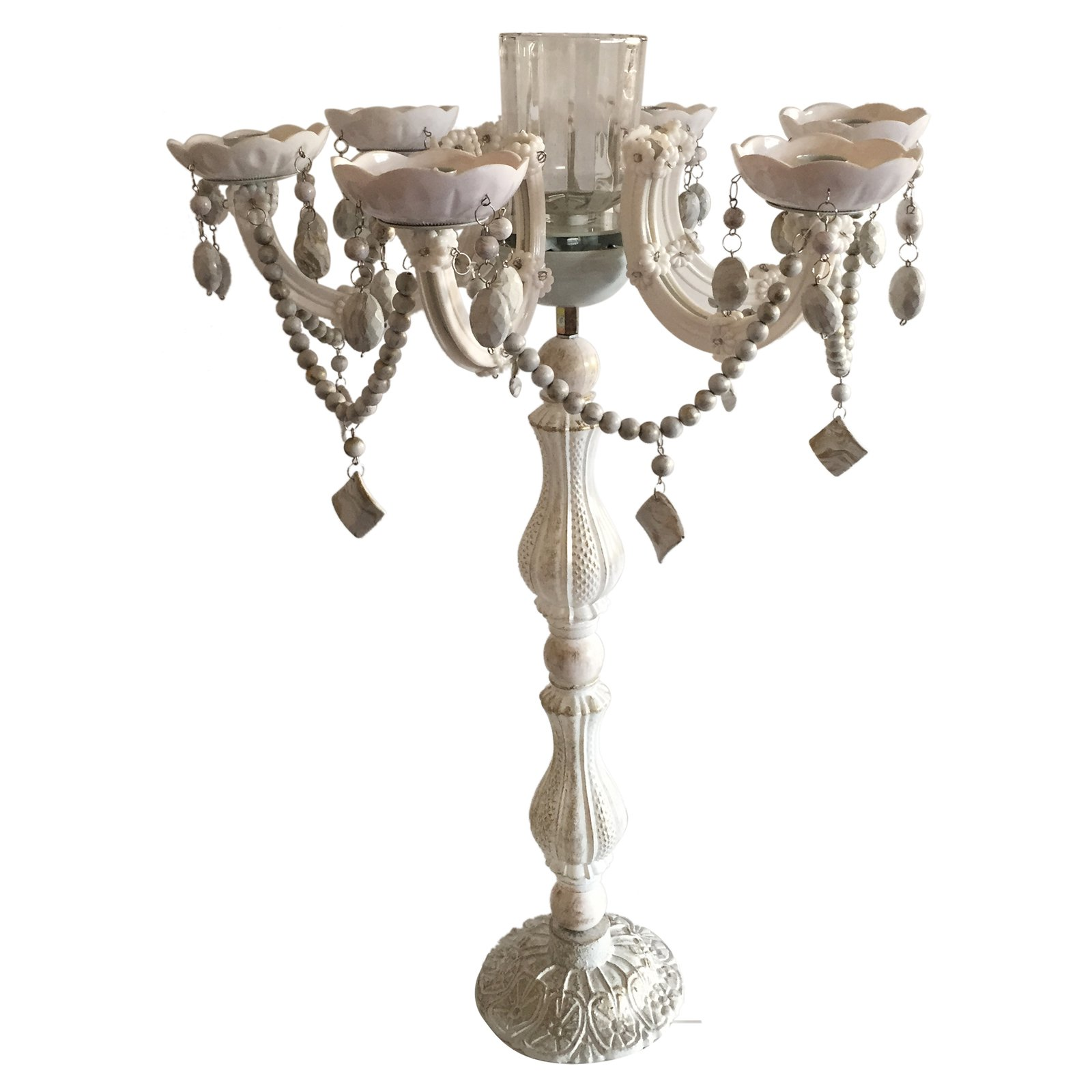 A and B Home Beaded Candelabra by Overstock