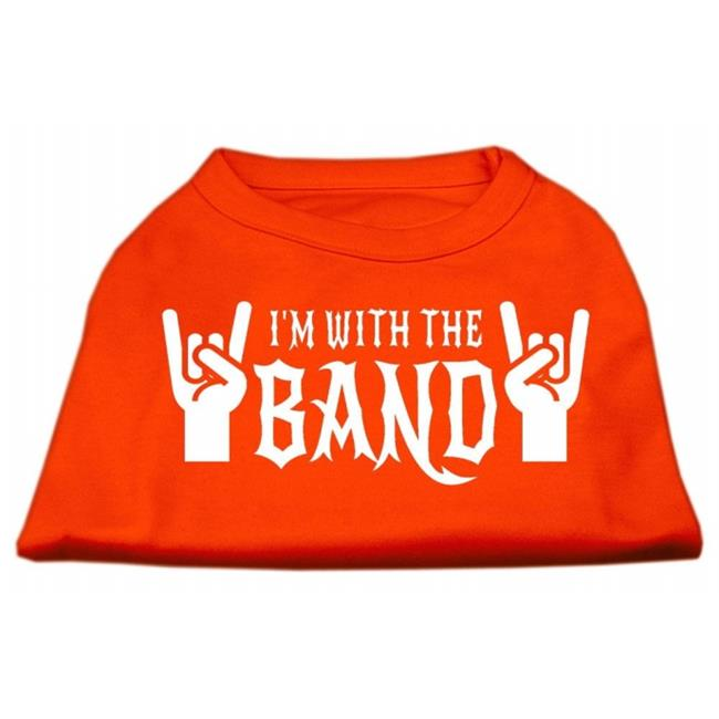 With The Band Screen Print Shirt Orange Lg (14) - image 1 of 1