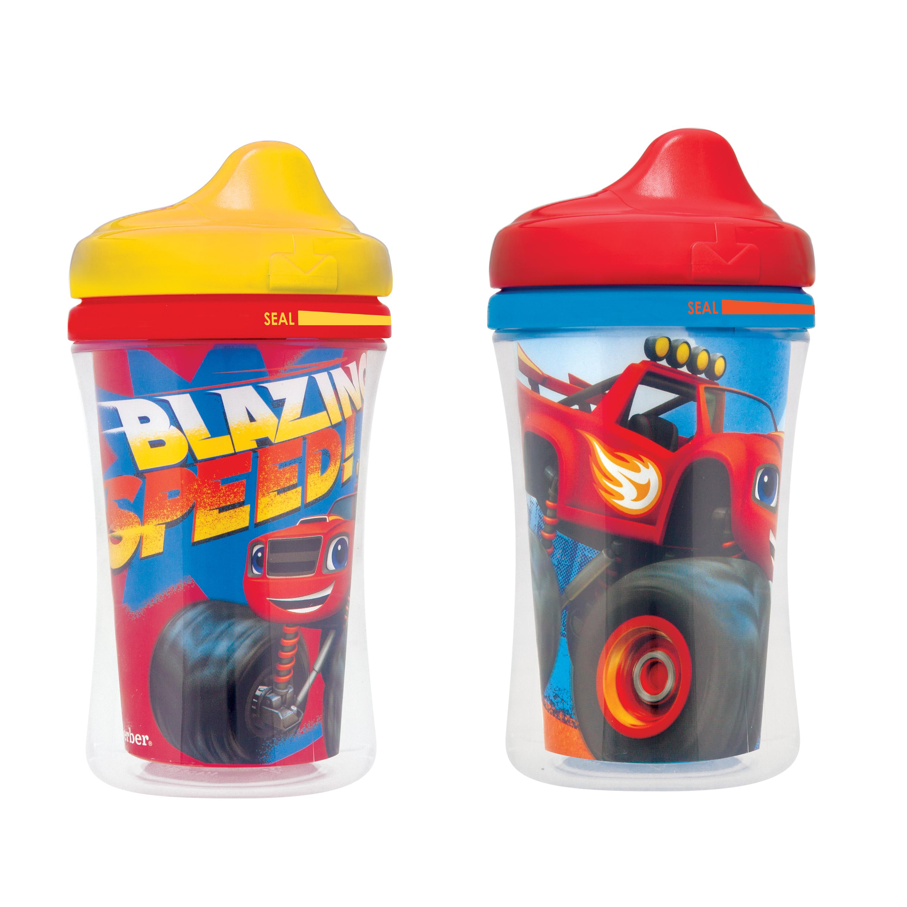 Gerber Graduates Blaze Insulated Hard Spout 9-Ounce Cup, 2 Pack