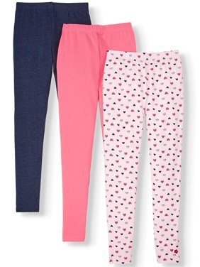 Limited Too Girls Printed and Solid Leggings, 3-Pack, Sizes 5-16