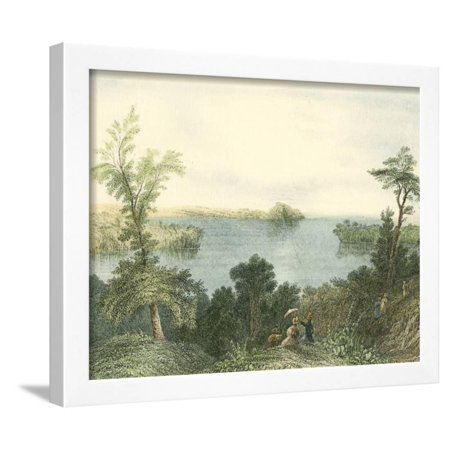 Saratoga Lake, New York Framed Print Wall Art ()