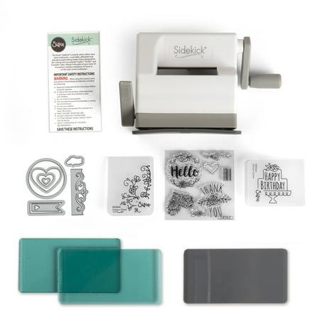Sizzix Sidekick Starter Kit-White & Gray (Cuttlebug Machine)