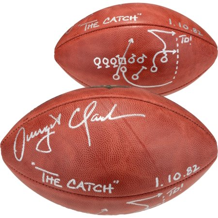 Dwight Clark San Francisco 49ers Autographed Duke Pro Football with