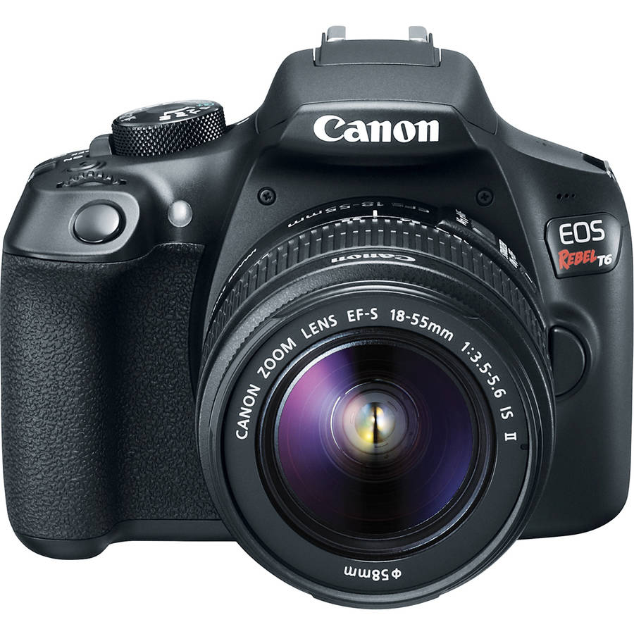 Canon EOS Rebel T6 DSLR Camera with 18-55mm Lens (Black)