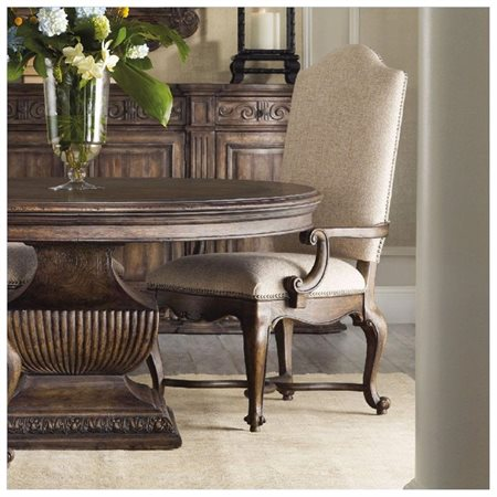Hooker Furniture Rhapsody Upholstered Dining Arm Chair   Rustic ...