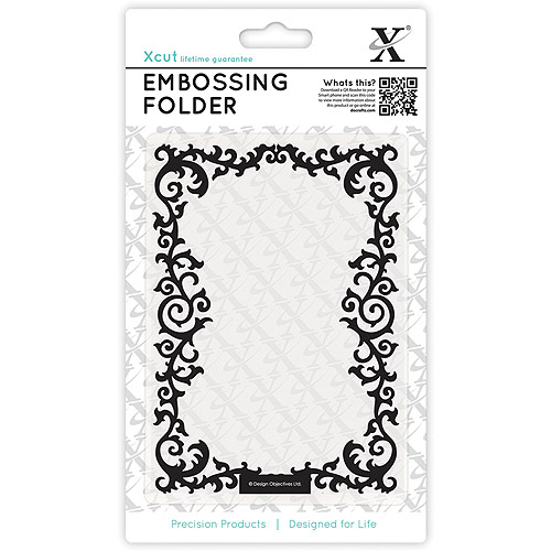 Xcut Universal A6 Embossing Folder, Leafy Border