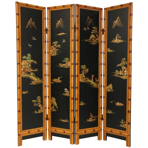 Oriental Furniture 72'' x 64'' Ching 4 Panel Room Divider