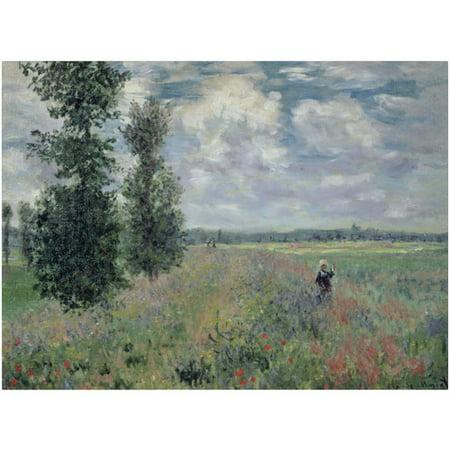 "Trademark Fine Art ""The Poppy Field"" Canvas Art by Claude Monet"