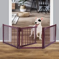 """Jaxpety 24"""" Dog Pet Gate Indoor Barrier Free Standing Folding Safety Fence Security 3 Panel"""