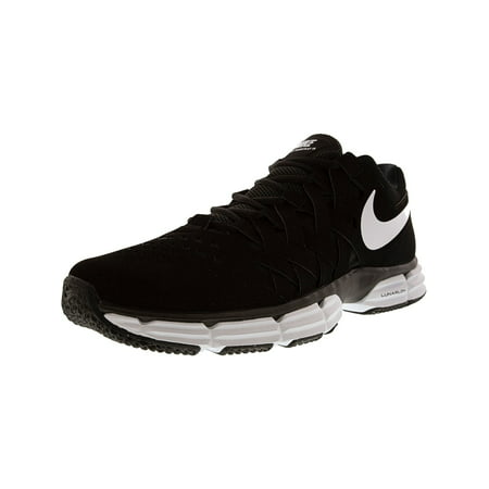 Nike Men's Lunar Fingertrap Tr Black / White - Ankle-High Leather Cross Trainer Shoe 13M