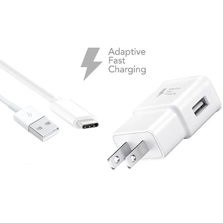 Adaptive Fast Charger Kit Compatible with ZTE Axon Max Devices - [Wall Charger + 4 Feet USB C Cable] - AFC uses Dual voltages for up to 50% Faster Charging! - White - image 5 of 9