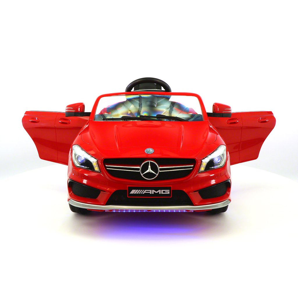 2017 Licensed Mercedes CLA45 AMG, Electric Kids Ride-On Car, Girls&Boys,2-5 Years, MP3 Player, AUX Input, USB, Rubber Tires, PU Leather Seat, LED Body Trim, 12V  Battery, Parental Remote | Red
