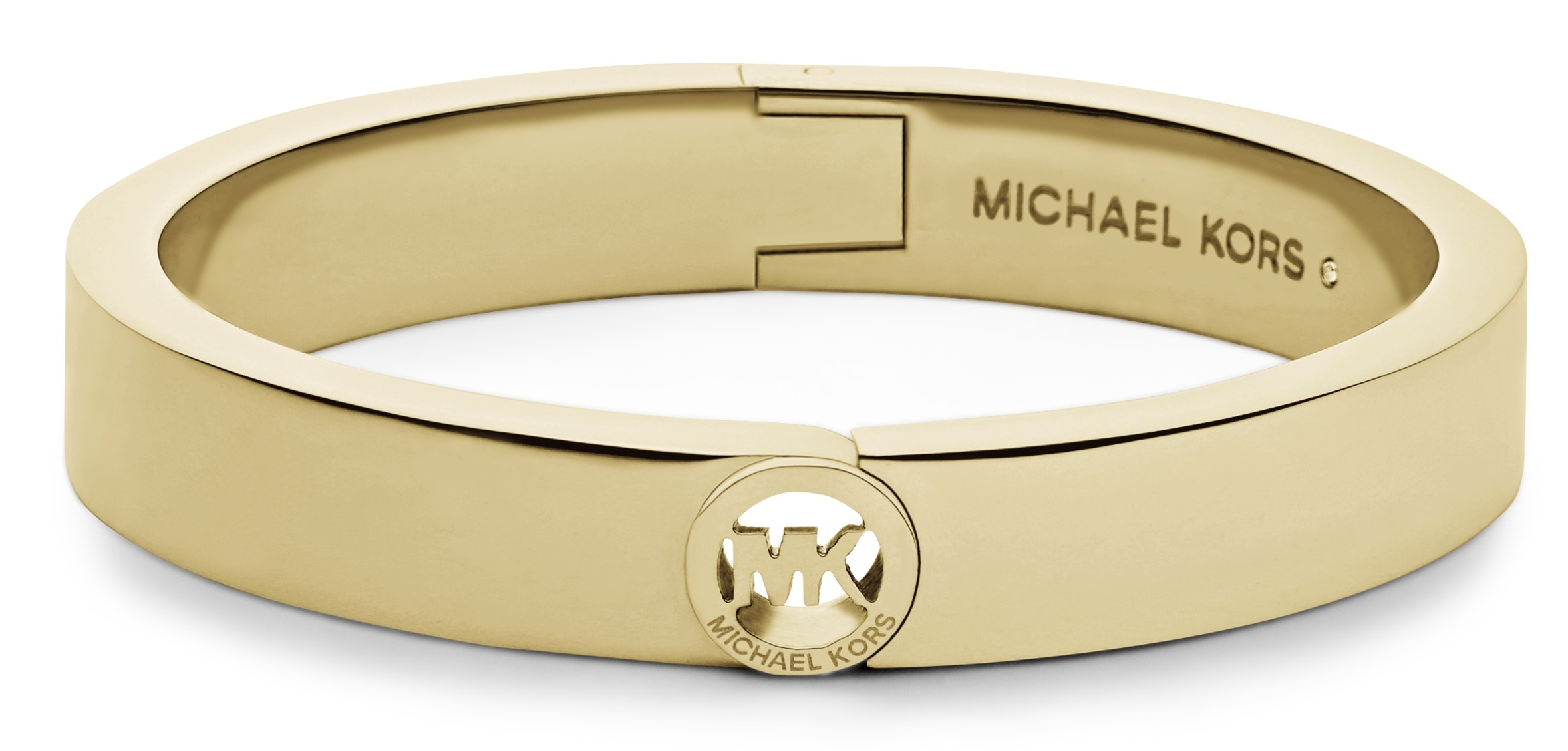 Michael Kors New Heritage Bangle Yellow Gold Tone Mk Bracelet Mkj3249710