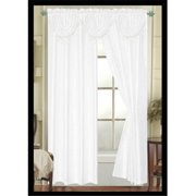 Editex 627VALP3702 Elaine Waterfall Faux Silk Valance with Rod Pocket in White