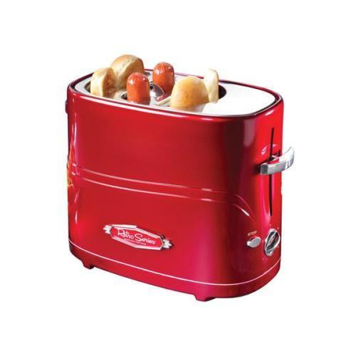 Nostalgia Electrics Retro Series Pop Up Hot Dog Toaster Red