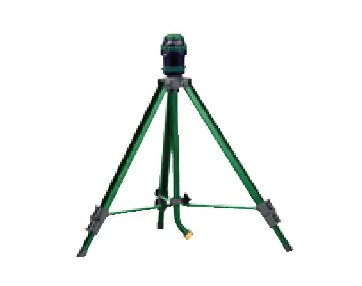 Orbit H2O-Six Gear Drive Yard Sprinkler on Tripod, Green Lawn Watering 56481 by Sprinklers