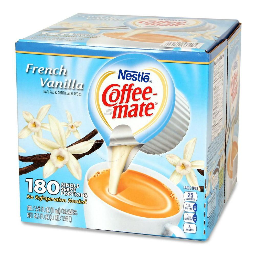 coffee mate nestle creamer vanilla french singles walmart oz ct fl