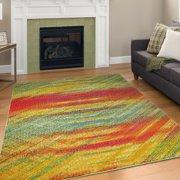 A2Z Rio 5710 Modern Bold Bohemian lustrous Electric Runner Hallway Area Rug Carpet Tapis