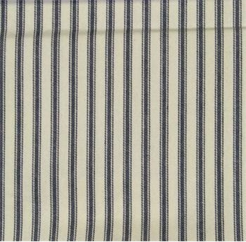 "Woven Ticking, 55 Navy, Cotton Upholstery Fabric, 10 yard Bolt, 55"" Wide"