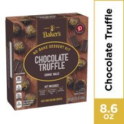 (2 pack) Baker's Chocolate Truffle Cookie Balls No Bake Dessert Kit, 8.6 oz Box