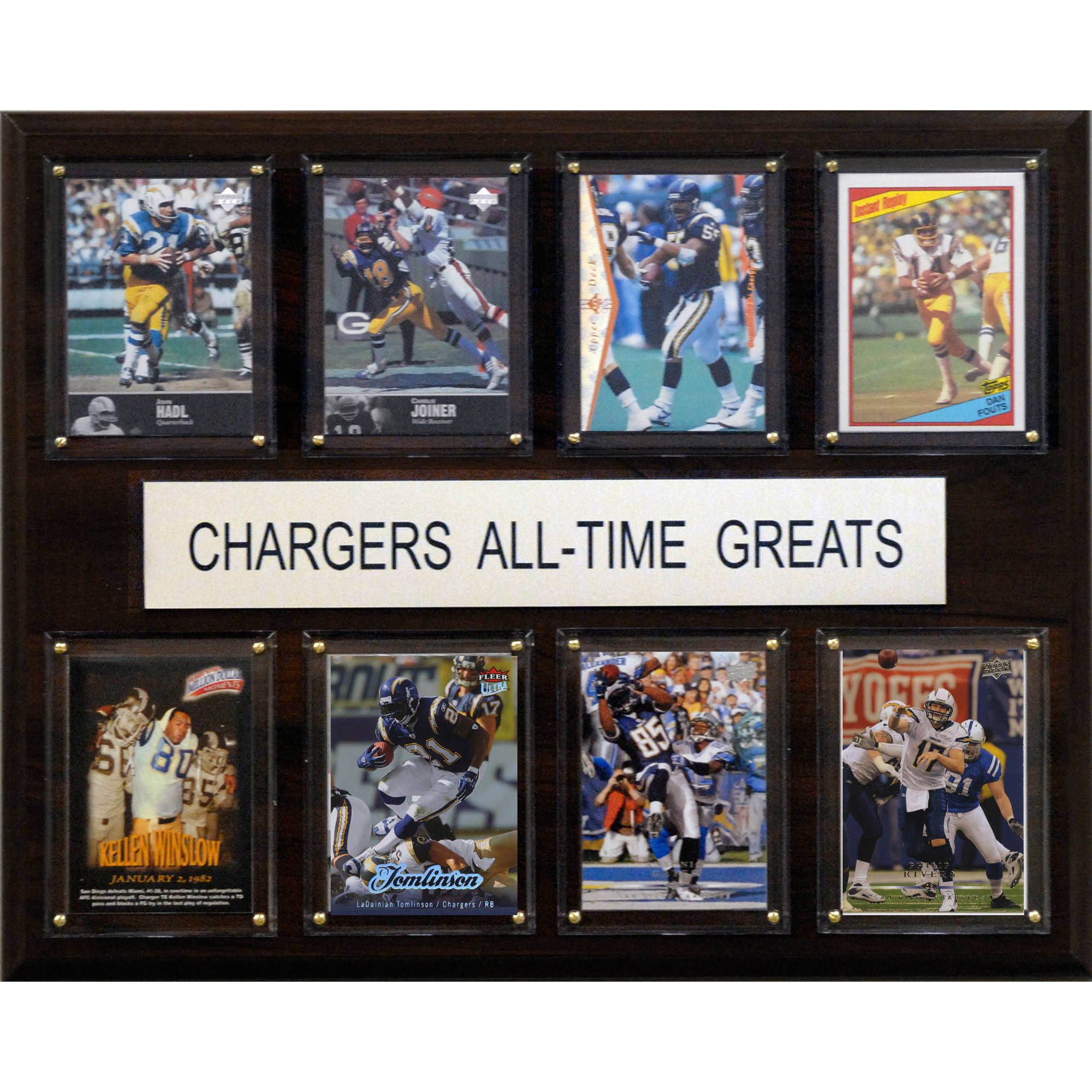 C&I Collectables NFL 12x15 San Diego Chargers All-Time Greats Plaque