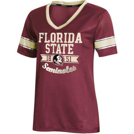 Women's Russell Athletic Garnet Florida State Seminoles Fashion Jersey V-Neck T-Shirt