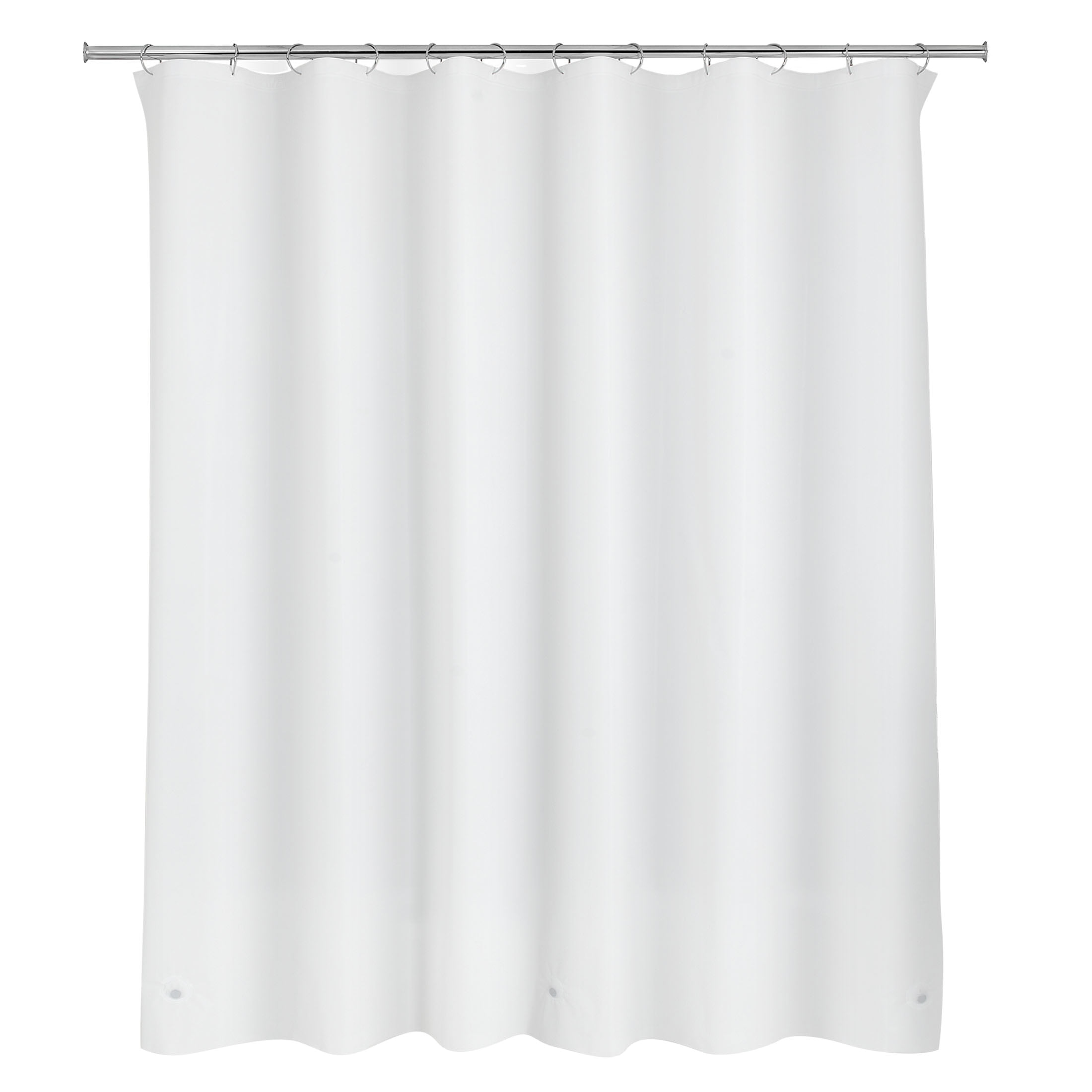 """70/"""" x 72/"""" inch Heat Embossed Textured Solid Color Fabric Shower Curtain"""