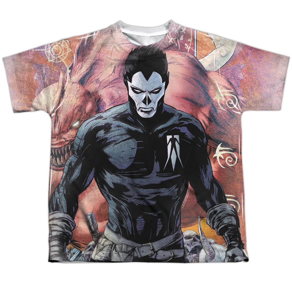 Shadowman Beast (Front Back Print) Big Boys Sublimation Shirt