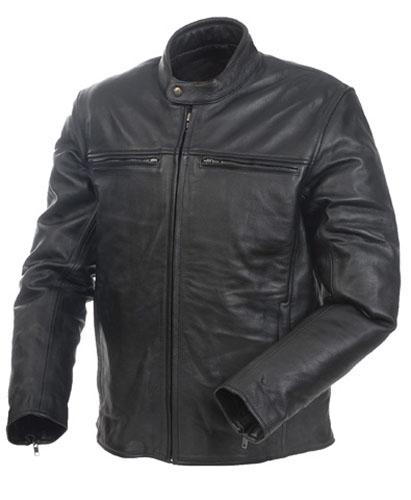 Camoplast 20-151-48 Mossi Mens Cruiser Premium Leather Jacket Size 48 Black