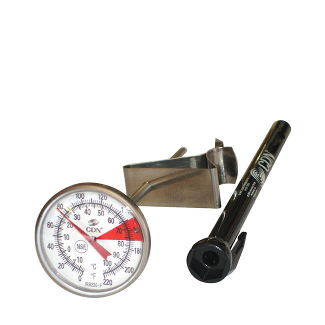 CDN IRB220-F-6.5 ProAccurate Insta-Read Beverage and Frothing Thermometer