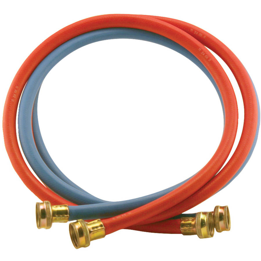 Certified Appliance Wm72rbr2pk Red/Blue EDPM Rubber Washing Machine Hoses, 2pk (6')