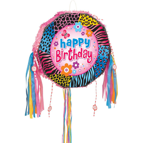 Wild Birthday Pinata, Pull String
