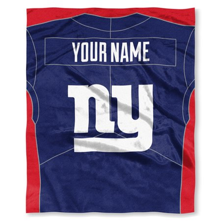 Nfl New York Giants Jersey Personalized Silk Touch Throw Blanket