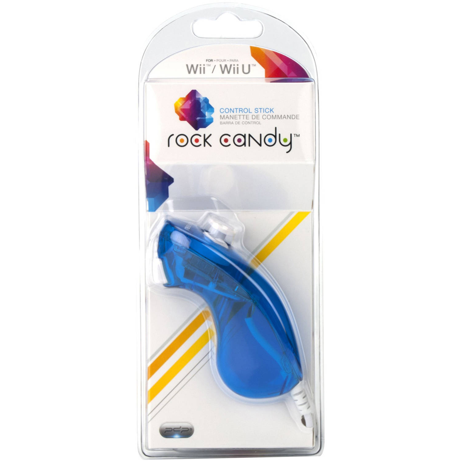 PDP Rock Candy  Control Stick for Wii/Wii U, Blueberry Boom
